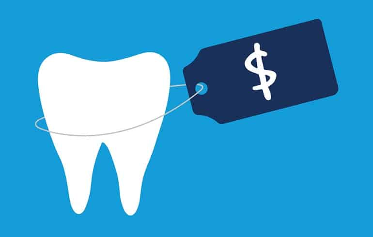 Tooth and dollar sign