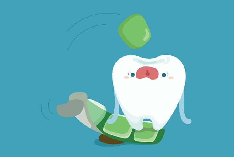 Tooth chewing gum cartoon image