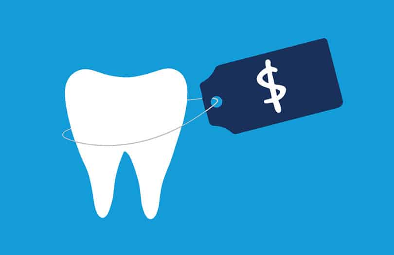 A tooth and price tag on it